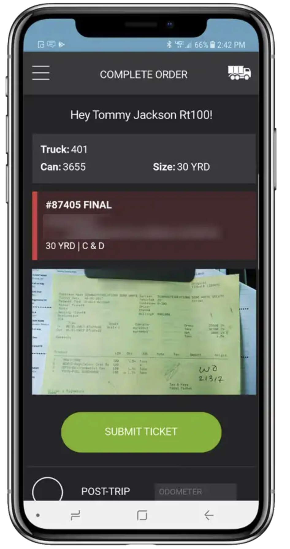paperless operations made possible by starlight driver mobile app